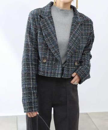 COLONY 2139(コロニー トゥーワンスリーナイン) 【WEB・一部店舗限定】ツイードショートジャケット(セットアップ可)