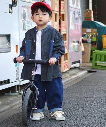 CIAOPANIC TYPY(チャオパニックティピー) 【KIDS】ポケット切り替えデニムシャツ