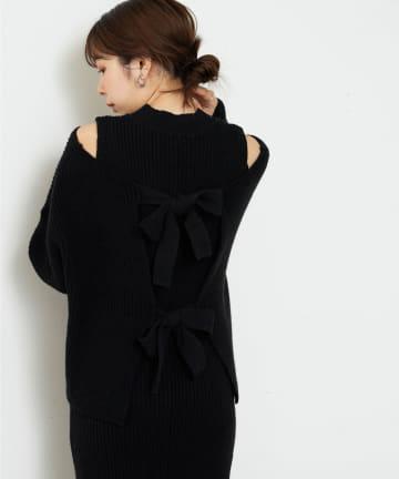 natural couture(ナチュラルクチュール) 【WEB限定】セットアップガーリーニットワンピース Sサイズ