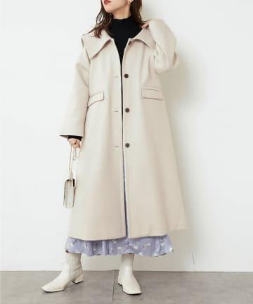 natural couture(ナチュラルクチュール) おしゃれビックカラーコート
