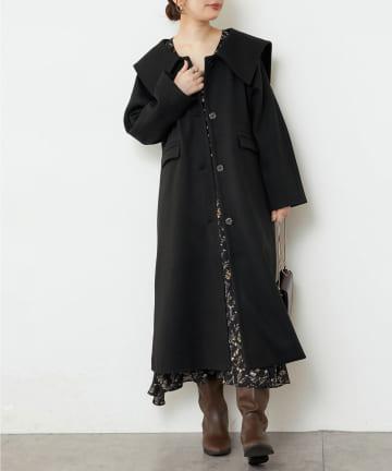natural couture(ナチュラルクチュール) おしゃれビブカラーコート