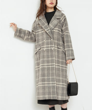 natural couture(ナチュラルクチュール) パール釦ロングチェスターコート