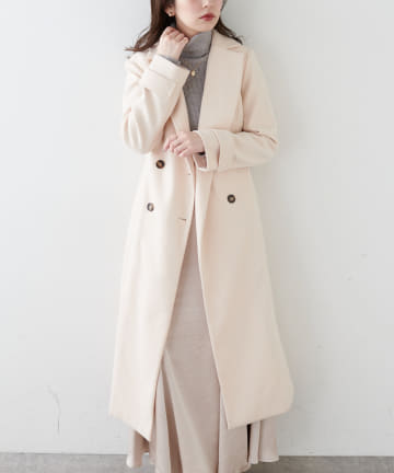 natural couture(ナチュラルクチュール) バックフフレアロングレディコート