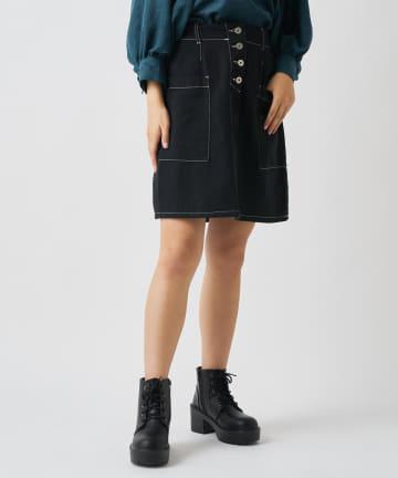 OLIVE des OLIVE OUTLET(オリーブ・デ・オリーブ アウトレット) 前釦BIGポケットスカート