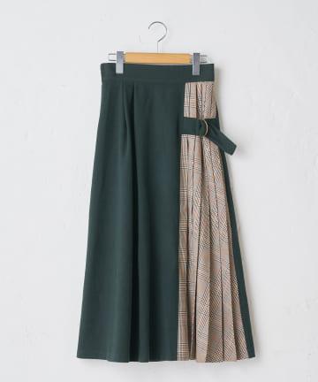 OLIVE des OLIVE OUTLET(オリーブ・デ・オリーブ アウトレット) チェック切り替えスカート