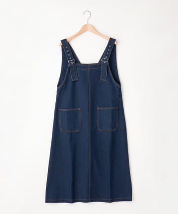 OLIVE des OLIVE OUTLET(オリーブ・デ・オリーブ アウトレット) ポケット付きジャンパースカート