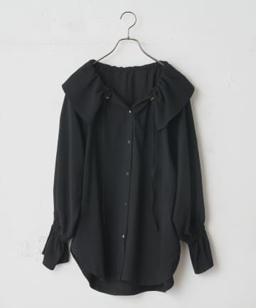 CIAOPANIC(チャオパニック) ギャザーカラーシャツ