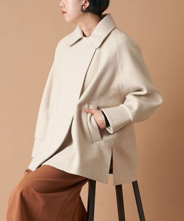un dix cors(アンディコール) 【女性らしさが高まるソフトな素材感】パイルニットビッグジャケット