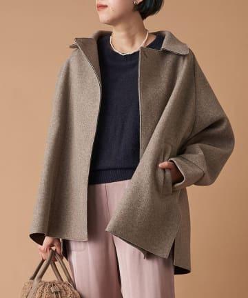 un dix cors(アンディコール) 《予約》【女性らしさが高まるソフトな素材感】パイルニットビッグジャケット