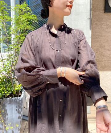 SHENERY(シーナリー) 【WEB限定】(ne Quittez pas)コットンボイルピンタックドレス