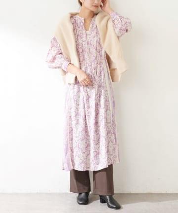 SHENERY(シーナリー) 【WEB限定】(ne Quittez pas)コットンボビープリントドレス