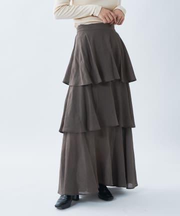 CIAOPANIC(チャオパニック) 【UNSPARE/アンスペア】ティアードスカート/WEB・一部店舗限定