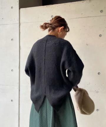 DOUDOU(ドゥドゥ) 【WEB限定】バックスリットボリュームスリーブプルオーバー