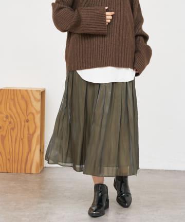 BONbazaar(ボンバザール) 《定番の人気アイテムに秋の新色追加》サテンギャザースカート