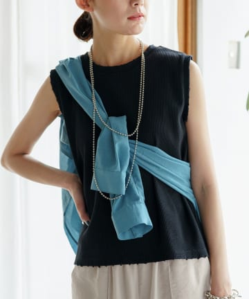 OUTLET(アウトレット) 【Loungedress】ダメージワッフルカットソー