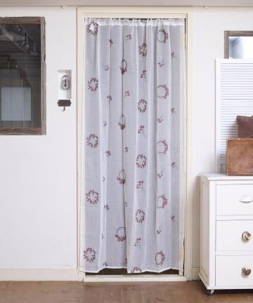 salut!(サリュ) 【お部屋の模様替えに】抗菌防臭野ばらカーテン