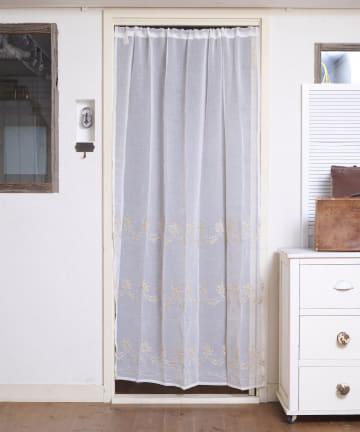 salut!(サリュ) 【お部屋の模様替えに】抗菌防臭プチフラワーカーテン