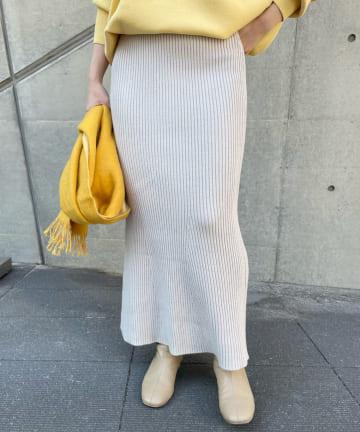 SHENERY(シーナリー) リブニットロングスカート