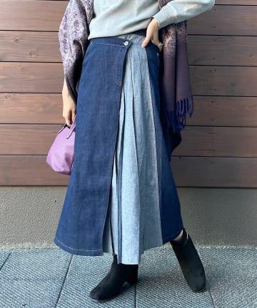 Pal collection(パルコレクション) 《大人カジュアル》デニムアシメスカート