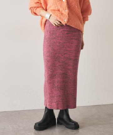 Omekashi(オメカシ) メランジニットタイトスカート