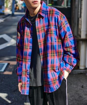 Discoat(ディスコート) ネルチェックビックシャツ