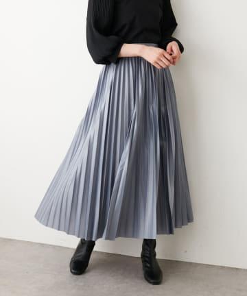 NICE CLAUP OUTLET(ナイスクラップ アウトレット) 合皮プリーツスカート