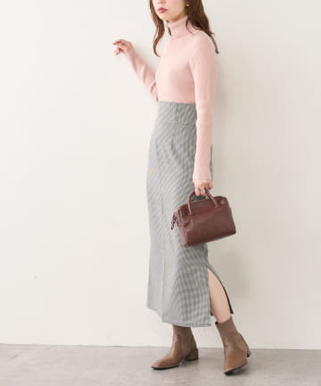 natural couture(ナチュラルクチュール) ハイウエストサイドスリットナロースカート