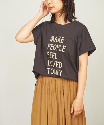 BONbazaar(ボンバザール) MessageプリントTシャツ