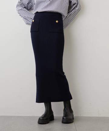 Whim Gazette(ウィム ガゼット) マリンニットタイトスカート