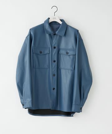 COLONY 2139(コロニー トゥーワンスリーナイン) リサイクルレザータッチCPOシャツ※セットアップ対応