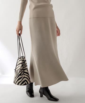 La boutique BonBon(ラブティックボンボン) 【セットアップ可・女性らしいライン・手洗い可】総針マーメイドスカート