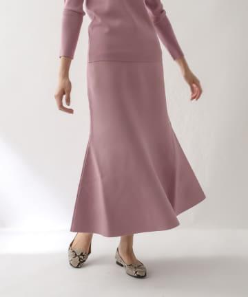 La boutique BonBon(ラブティックボンボン) 《予約》【セットアップ可・女性らしいライン・手洗い可】総針マーメイドスカート