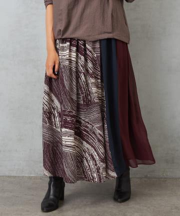 Pal collection(パルコレクション) 《ふんわり揺れる》秋柄スカート