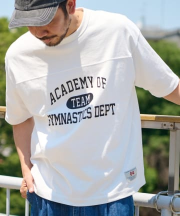 OUTLET(アウトレット) 【CIAOPANIC TYPY】USAコットンカレッジプリントフットボールTee