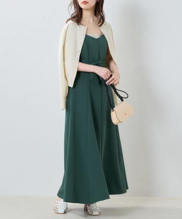 natural couture(ナチュラルクチュール) 【WEB限定】マーメイドバックリボンワンピース
