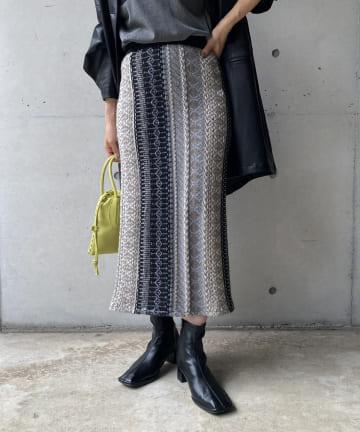 CAPRICIEUX LE'MAGE(カプリシュレマージュ) キカジャガードスカート