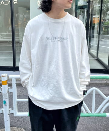 WHO'S WHO gallery(フーズフーギャラリー) 【BLESS YOU/ブレスユー】ピグメント刺繍ロンTEE