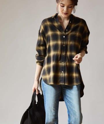 OUVRAGE CLASSE(ウヴラージュクラス) 起毛チェックシャツ