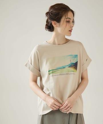 OUVRAGE CLASSE(ウヴラージュクラス) ターンアップフォトTシャツ