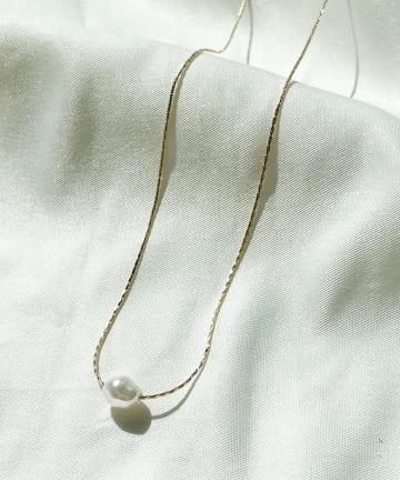 Lattice(ラティス) いびつパールプチネックレス
