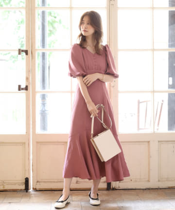 one after another NICE CLAUP(ワンアフターアナザー ナイスクラップ) 【Cherie chuu】lady long onepiece