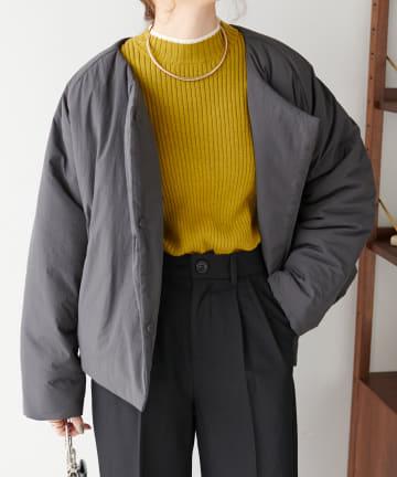 Discoat(ディスコート) 中綿ノーカラージャケット