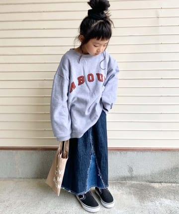 CIAOPANIC TYPY(チャオパニックティピー) 【KIDS】【TYPY DENIM】リメイク風フリンジロングスカート