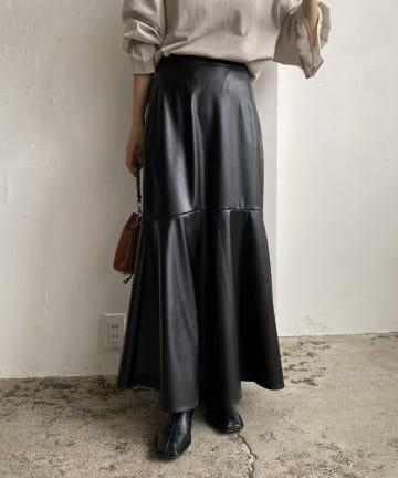 CAPRICIEUX LE'MAGE(カプリシュレマージュ) エコレザーマーメイドスカート