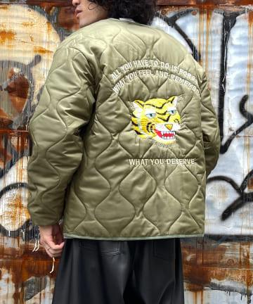 CPCM(シーピーシーエム) 【ユニセックス】バック刺繍キルティングジャケット