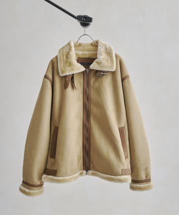 CPCM(シーピーシーエム) フェイクスエードムートンB-3ジャケット