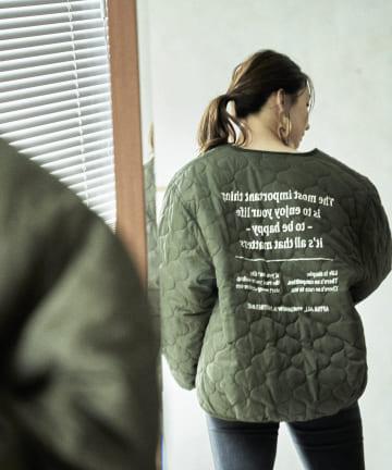 mona Belinda(モナ ベリンダ) バックロゴキルティングジャケット