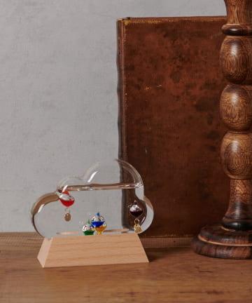 BIRTHDAY BAR(バースデイバー) ガラスフロート 温度計 クラウド
