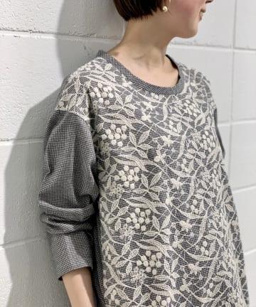 BEARDSLEY(ビアズリー) 《予約》フロント刺繍ワンピース