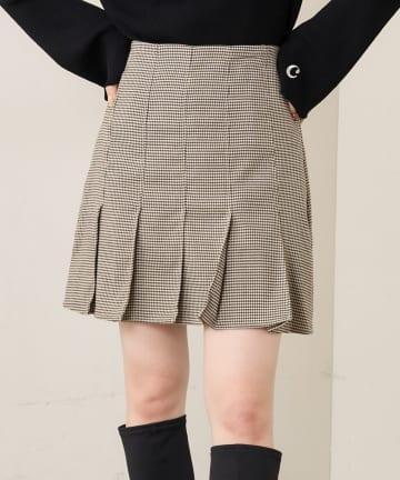 who's who Chico(フーズフーチコ) 【SET UP対応】裾プリーツフレアミニスカート